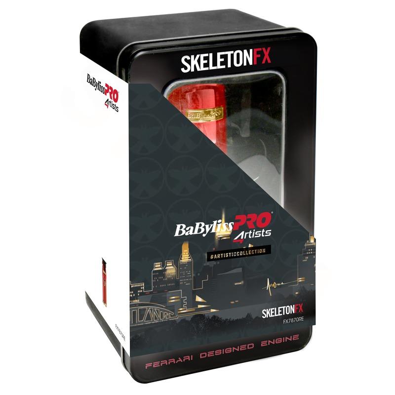 BaByliss PRO FX7870RE SkeletonFX Red Profesionálny strihač vlasov