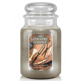 Country Candle Veľká vonná sviečka v skle Shave and Haircut 652g