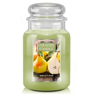 Country Candle Veľká vonná sviečka v skle Bartlett Pear 652g