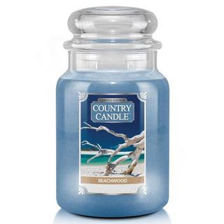 Country Candle Veľká vonná sviečka v skle Beachwood 652g