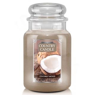 Country Candle Veľká vonná sviečka v skle Coconut Wood 652g