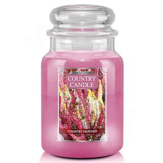 Country Candle Veľká vonná sviečka v skle Country Heather 652g