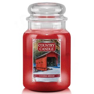 Country Candle Veľká vonná sviečka v skle Covered Bridge 652g