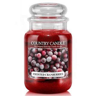 Country Candle Veľká vonná sviečka v skle Frosted cranberries 652g
