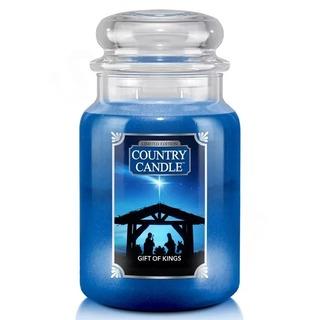 Country Candle Veľká vonná sviečka v skle Gift of Kings 652g