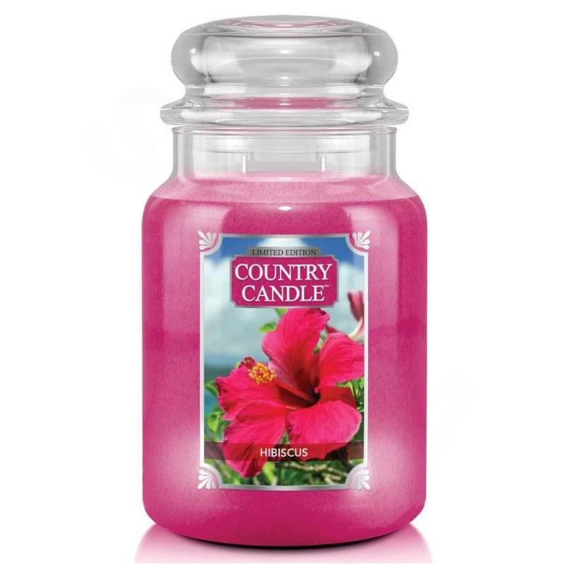 Country Candle Veľká vonná sviečka v skle Hibiscus 652g