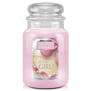 Country Candle Veľká vonná sviečka v skle It 'A Girl 652g