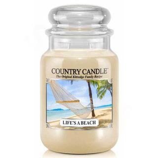 Country Candle Veľká vonná sviečka v skle Life's a beach 652g