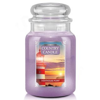 Country Candle Veľká vonná sviečka v skle Lighthouse Point 652g