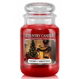 Veľká vonná sviečka v skle Merry Christmas 652g