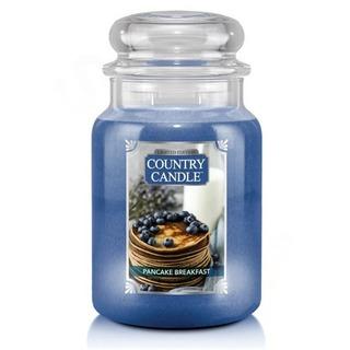 Country Candle Veľká vonná sviečka v skle Pancake Breakfast 652g