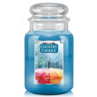 Country Candle Veľká vonná sviečka v skle Rainy Day 652g
