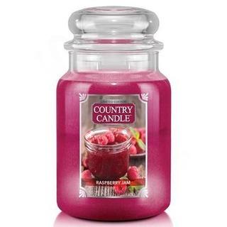 Country Candle Veľká vonná sviečka v skle Raspberry Jam 652g