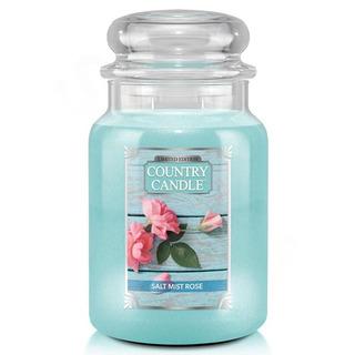 Country Candle Veľká vonná sviečka v skle Salt Mist Rose 652g