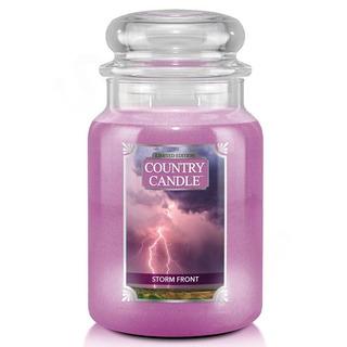 Country Candle Veľká vonná sviečka v skle Storm Front 652g