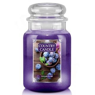 Country Candle Veľká vonná sviečka v skle Sugar Plum 652g