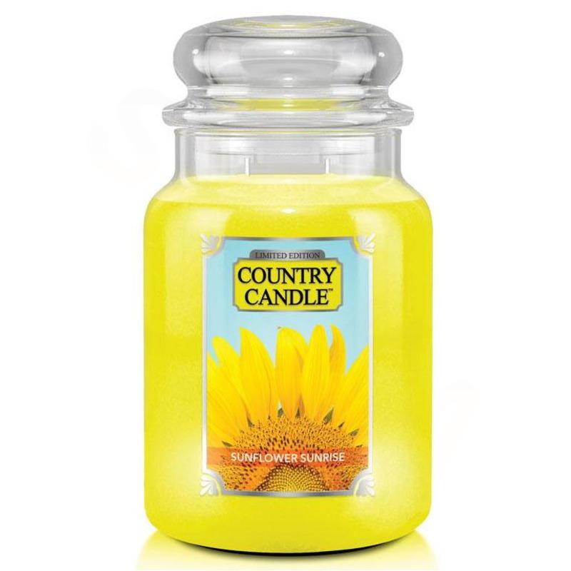 Country Candle Veľká vonná sviečka v skle Sunflower Sunrise 652g