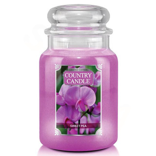 Country Candle Veľká vonná sviečka v skle Sweet Pea 652g