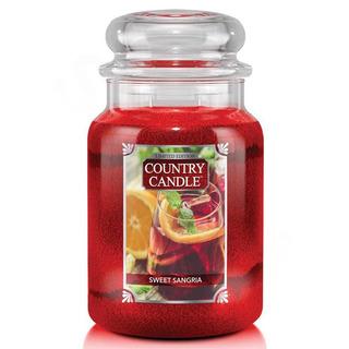 Country Candle Veľká vonná sviečka v skle Sweet Sangria 652g