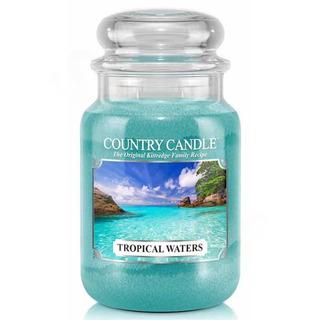 Country Candle Veľká vonná sviečka v skle Tropical waters 652g