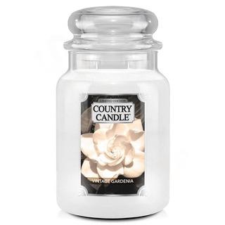 Country Candle Veľká vonná sviečka v skle Vintage Gardenia 652g