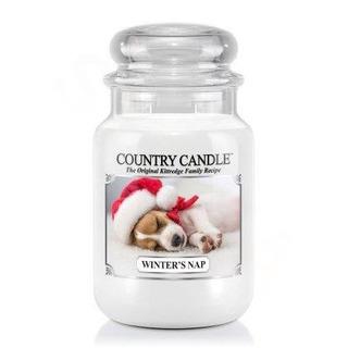 Country Candle Veľká vonná sviečka v skle Winter's nap 652g