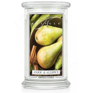 Kringle Candle  Veľká vonná sviečka v skle Anjou and Allspice 624g