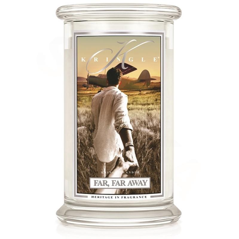 Kringle Candle  Veľká vonná sviečka v skle Far, far away 624g