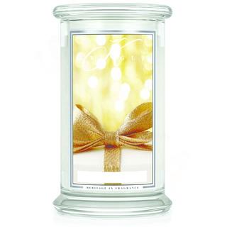 Kringle Candle  Veľká vonná sviečka v skle Gold cashmere 624g