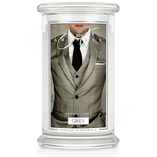 Kringle Candle  Veľká vonná sviečka v skle Grey 624g