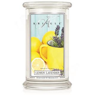 Kringle Candle  Veľká vonná sviečka v skle Lemon Lavender 624g