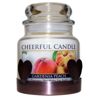 Cheerful Giver Medený nízky stojan na sviečku - srdce
