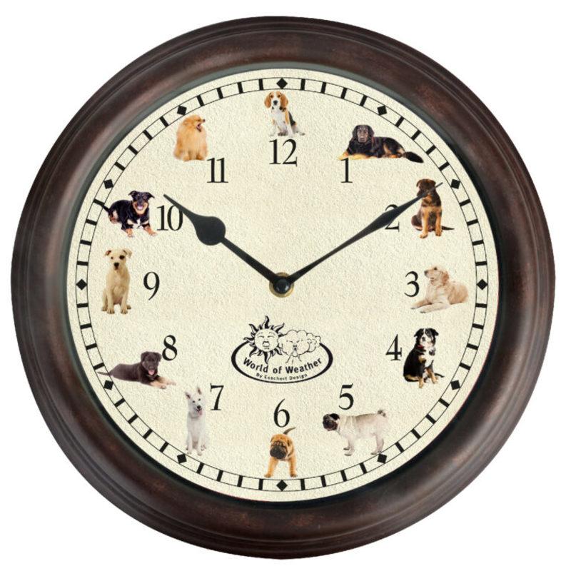 Ostatní Nástenné hodiny sa psími zvukmi