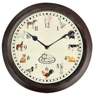 Ostatní Nástenné hodiny so zvukmi farmárskych zvieratiek