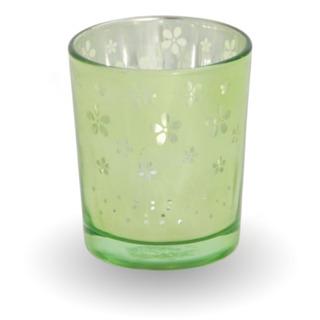 Sklenený svietnik na votívny sviečku - zelený