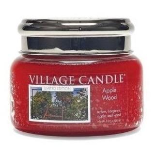 Village Candle Malá vonná sviečka v skle Apple Wood 262g - Jabloňové drevo