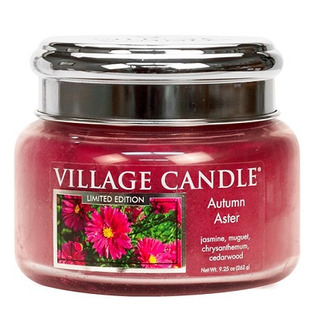 Village Candle Malá vonná sviečka v skle Autumn Aster 262g - Jesenná astra