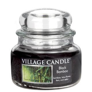 Village Candle Malá vonná sviečka v skle Black Bamboo 262g - Bambus