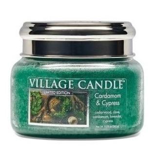 Village Candle Malá vonná sviečka v skle Cardamom and Cypress 262g - Kardamon a cyprus