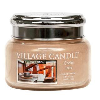 Village Candle Malá vonná sviečka v skle Chalet Latte 262g - Latté v horskej búde