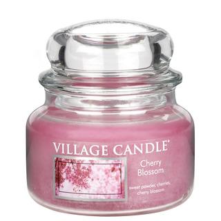 Village Candle Malá vonná sviečka v skle Cherry Blossom 262g - Čerešňový kvet