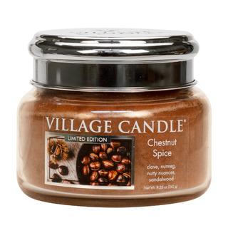 Malá vonná sviečka v skle Chestnut Spice 262g - Pečené gaštany