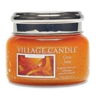 Village Candle Malá vonná sviečka v skle Citrus Twist 262g - Citrusové osvieženie