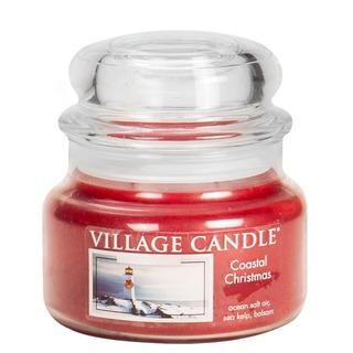 Village Candle Malá vonná sviečka v skle Coastal Christmas 262g - Vianoce v prístave