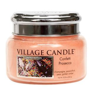 Malá vonná sviečka v skle Confetti Prosecco 262g - Konfety a Prosecco
