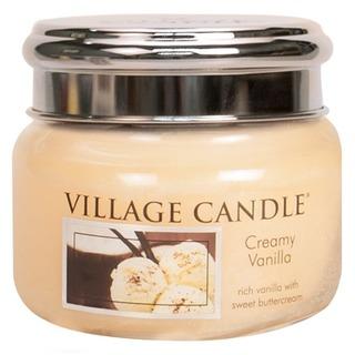 Village Candle Malá vonná sviečka v skle Creamy Vanilla 262g - Vanilková zmrzlina