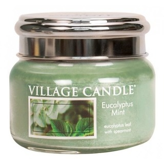 Village Candle Malá vonná sviečka v skle Eucalyptus Mint 262g - Eukalyptus a mäta