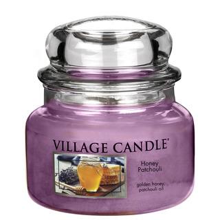 Village Candle Malá vonná sviečka v skle Honey Patchouli 262g - Med a pačuli