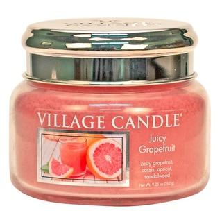 Village Candle Malá vonná sviečka v skle Juicy Grapefruit 262g