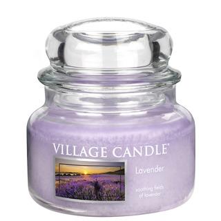 Village Candle Malá vonná sviečka v skle Lavender 262g - Levanduľa